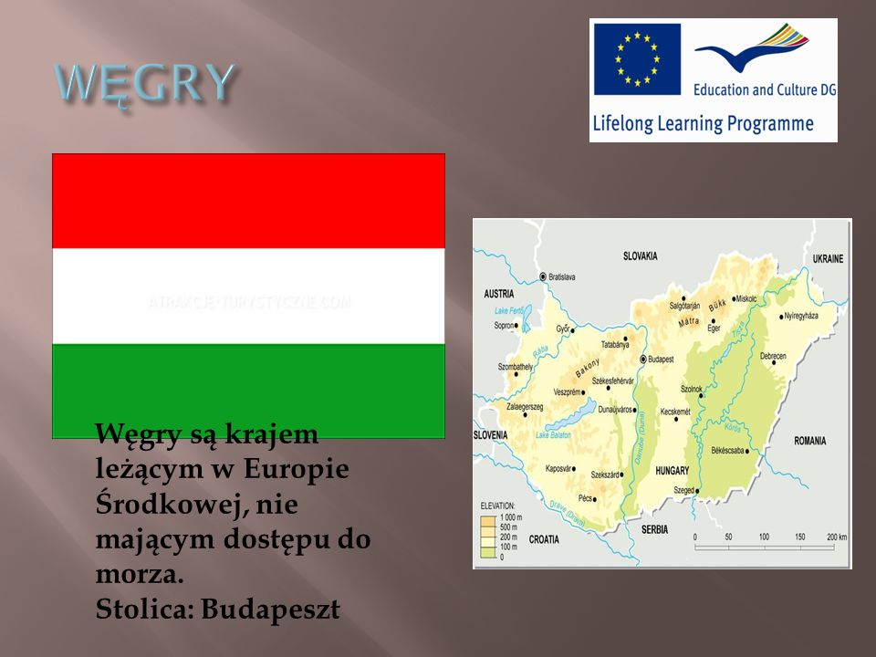 WĘGRY Węgry są krajem leżącym w Europie Środkowej, nie mającym dostępu do morza.