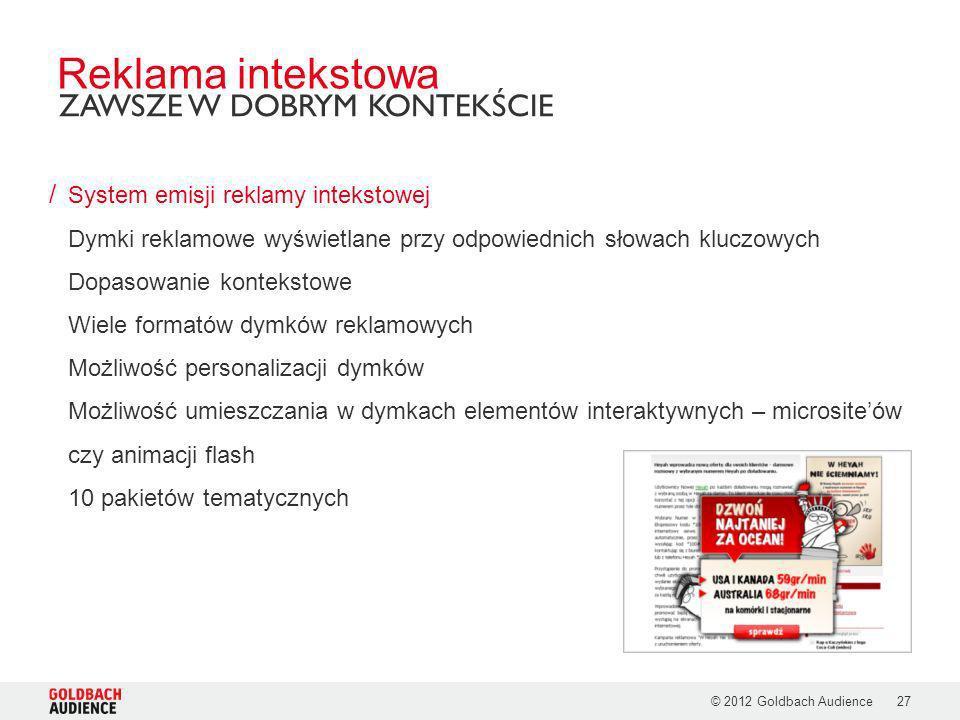 Reklama intekstowa ZAWSZE W DOBRYM KONTEKŚCIE