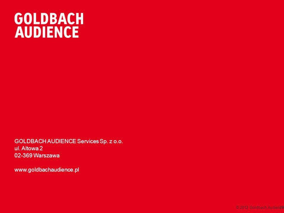 © 2012 Goldbach Audience