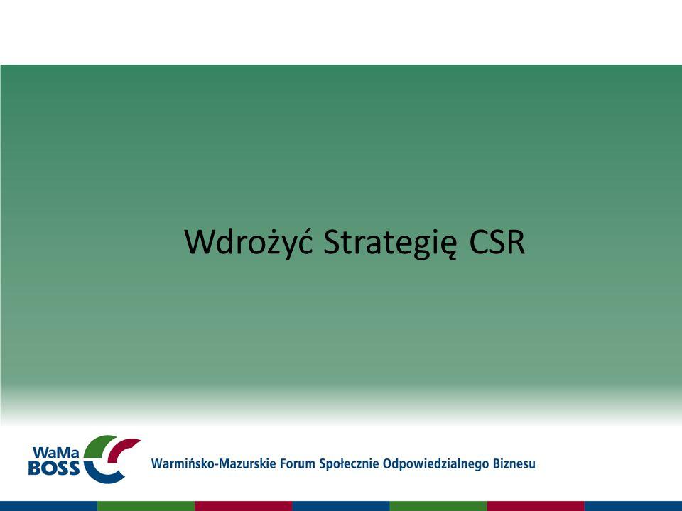 Wdrożyć Strategię CSR