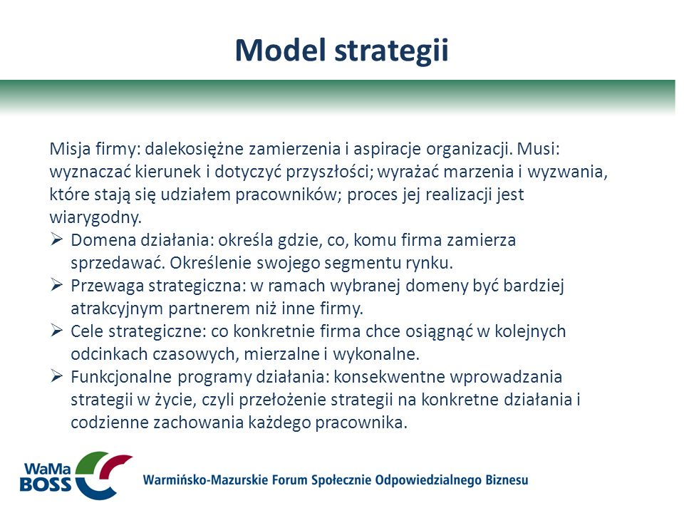 Model strategii