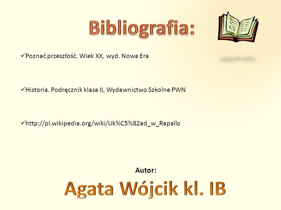 Bibliografia: Agata Wójcik kl. IB