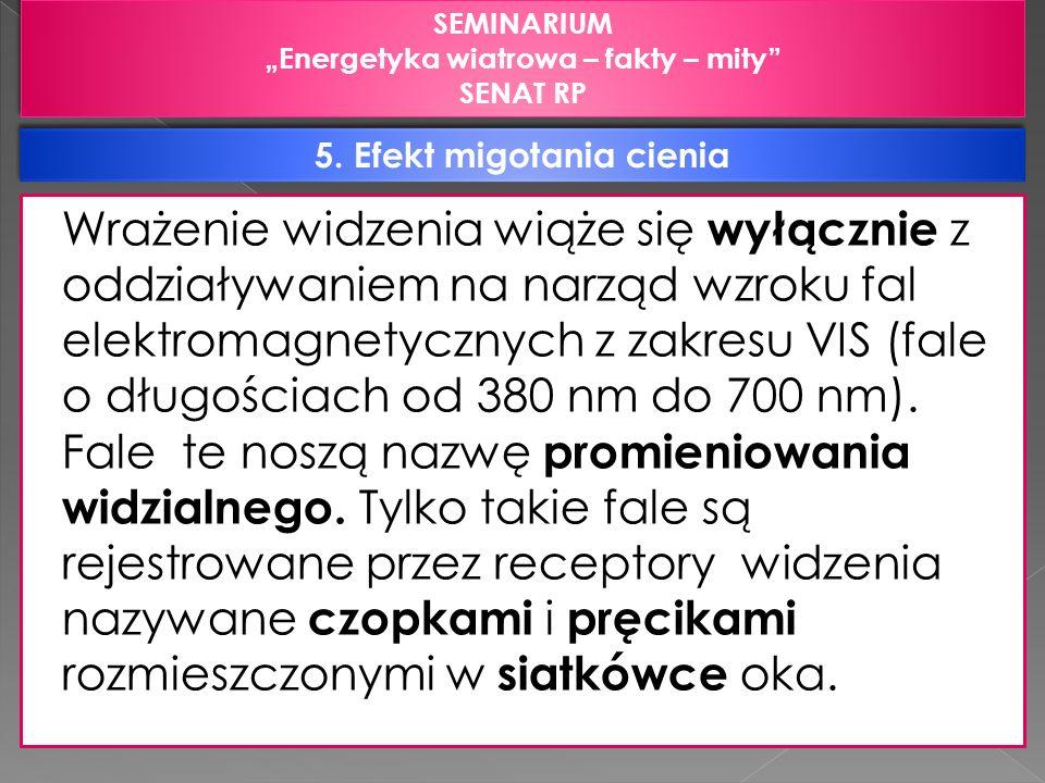 """""""Energetyka wiatrowa – fakty – mity 5. Efekt migotania cienia"""