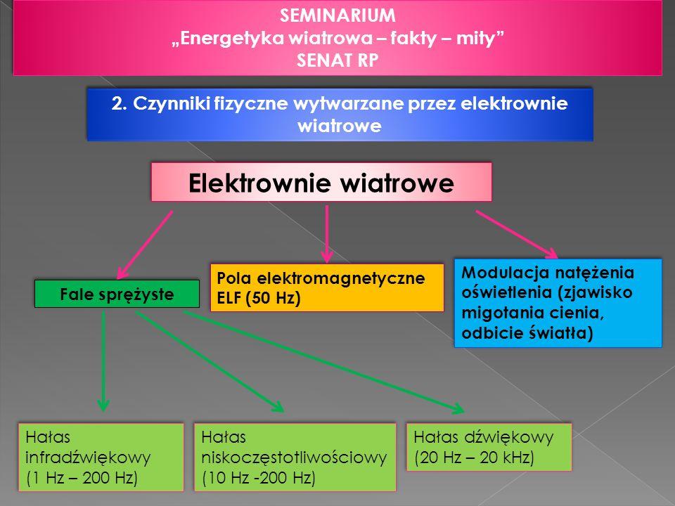 """Elektrownie wiatrowe SEMINARIUM """"Energetyka wiatrowa – fakty – mity"""