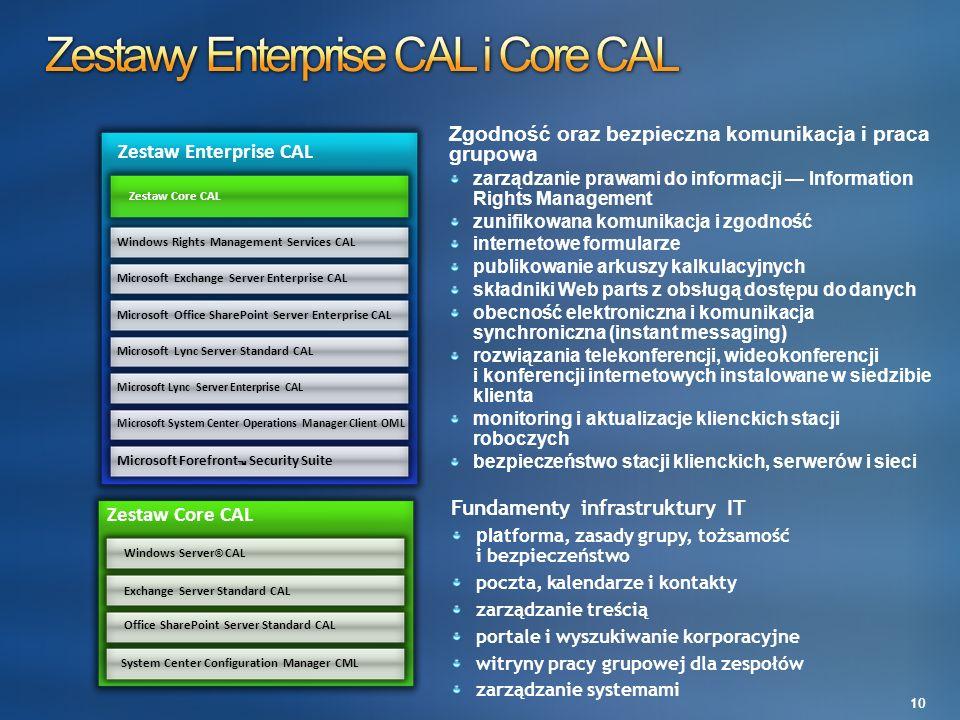 Zestawy Enterprise CAL i Core CAL
