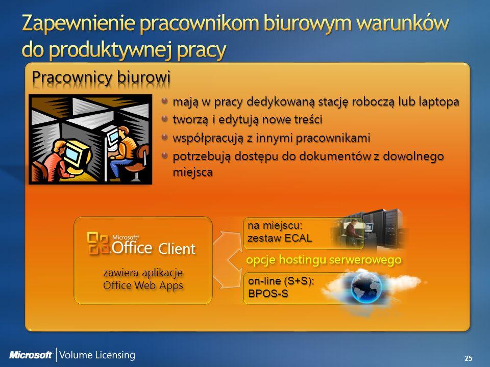 zawiera aplikacje Office Web Apps