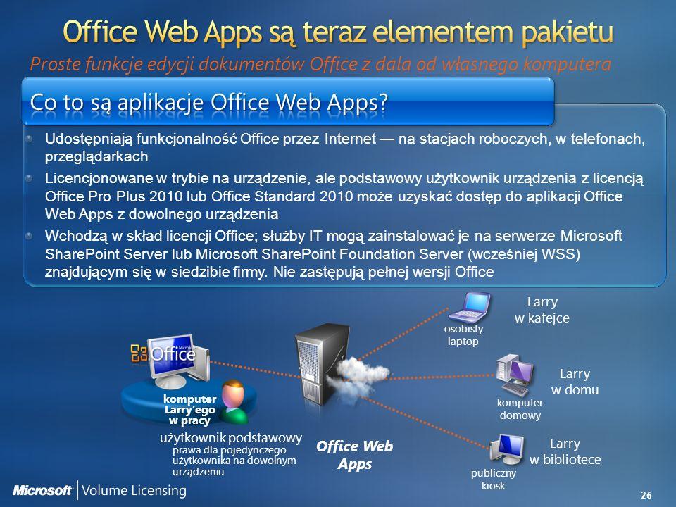 Office Web Apps są teraz elementem pakietu