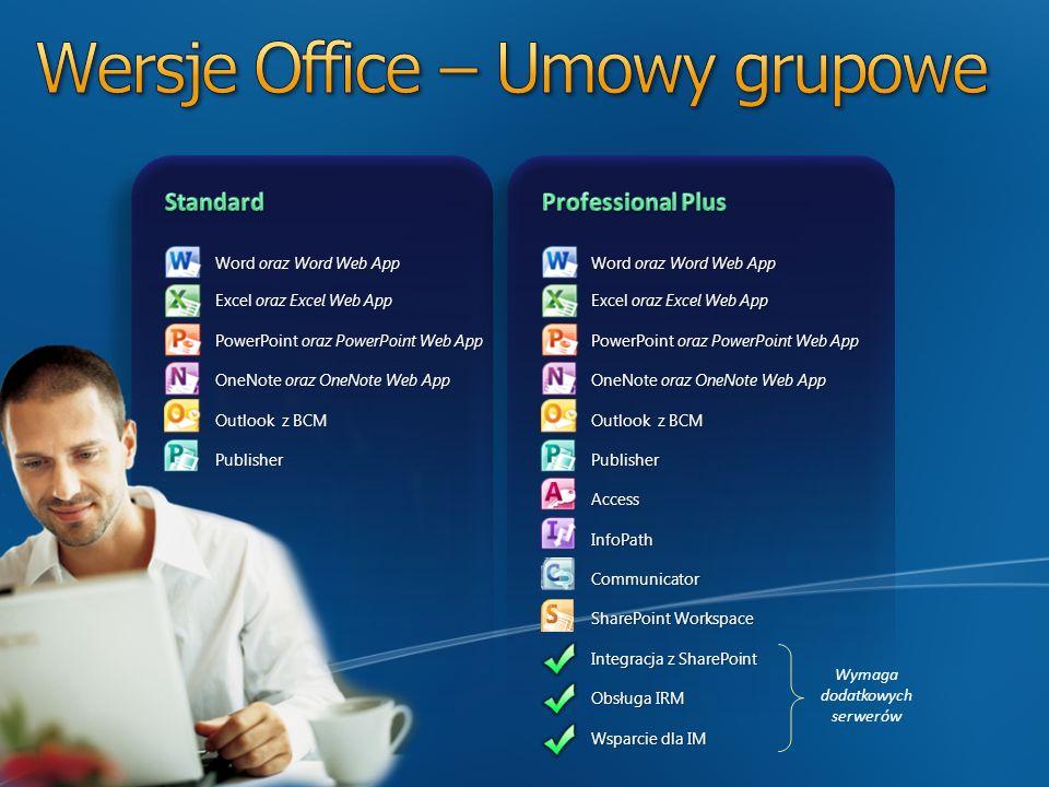 Wersje Office – Umowy grupowe