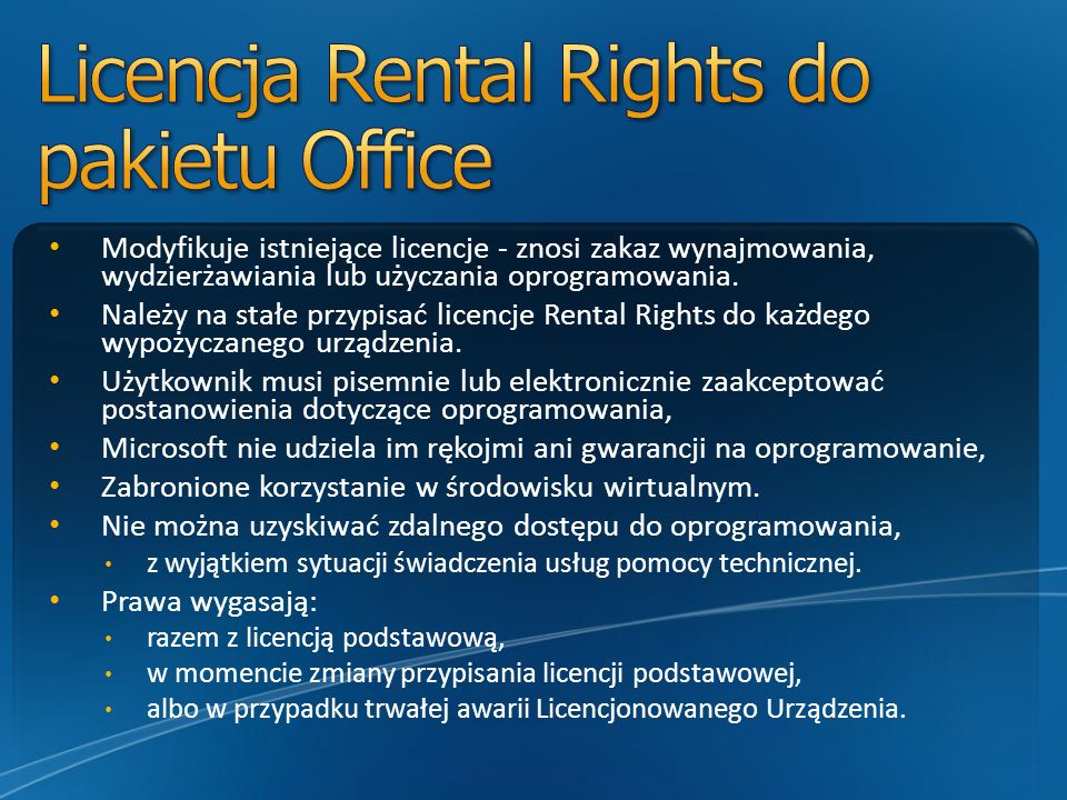 Licencja Rental Rights do pakietu Office