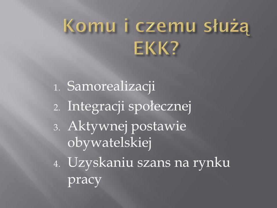 Komu i czemu służą EKK Samorealizacji Integracji społecznej