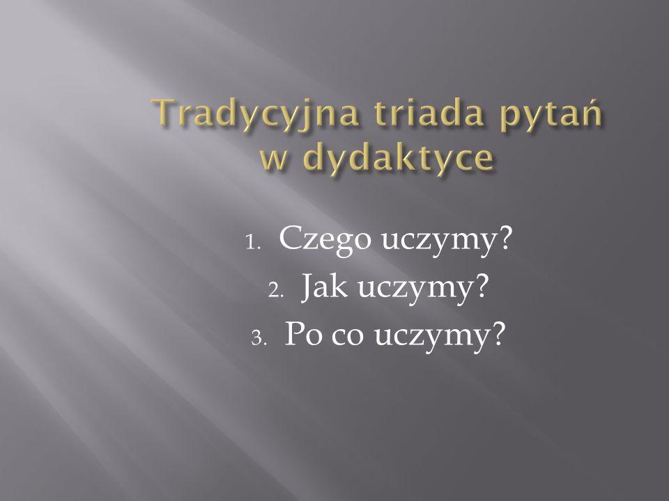 Tradycyjna triada pytań w dydaktyce