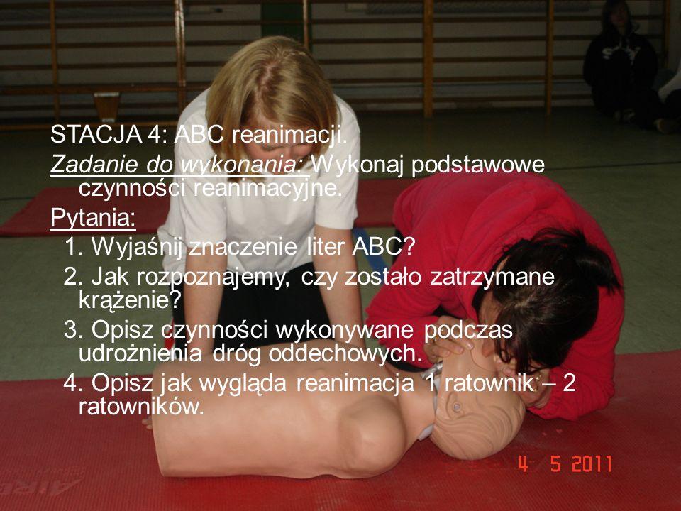 STACJA 4: ABC reanimacji.