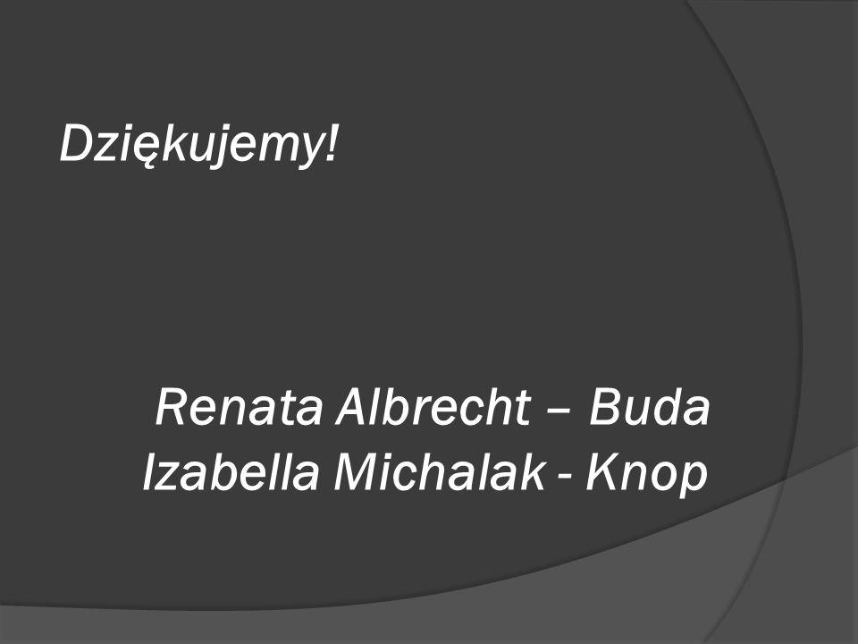 Dziękujemy! Renata Albrecht – Buda Izabella Michalak - Knop