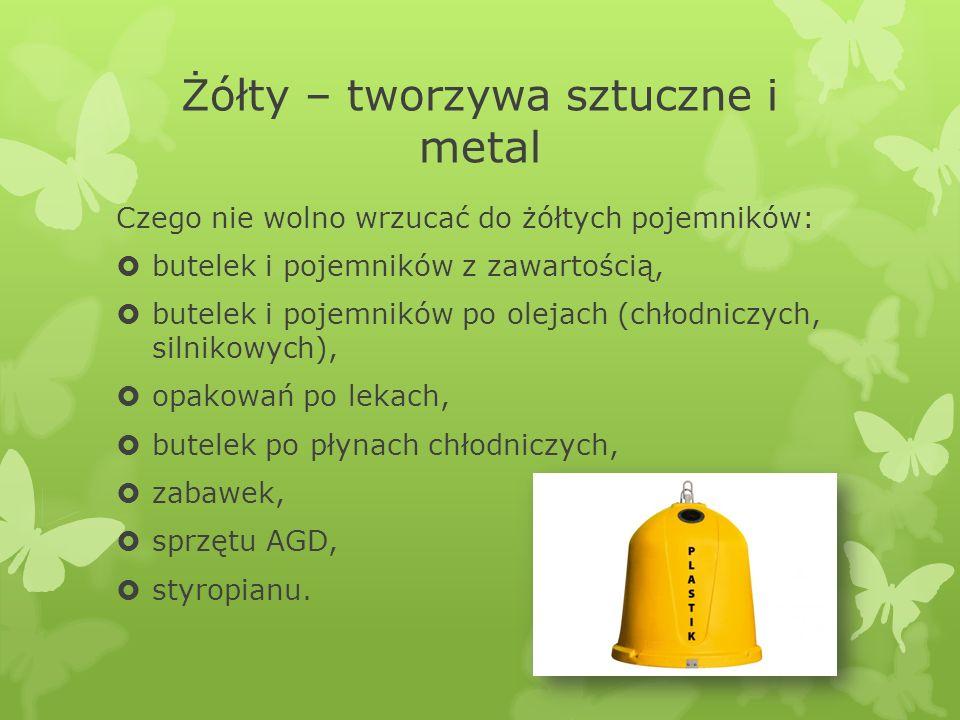 Żółty – tworzywa sztuczne i metal