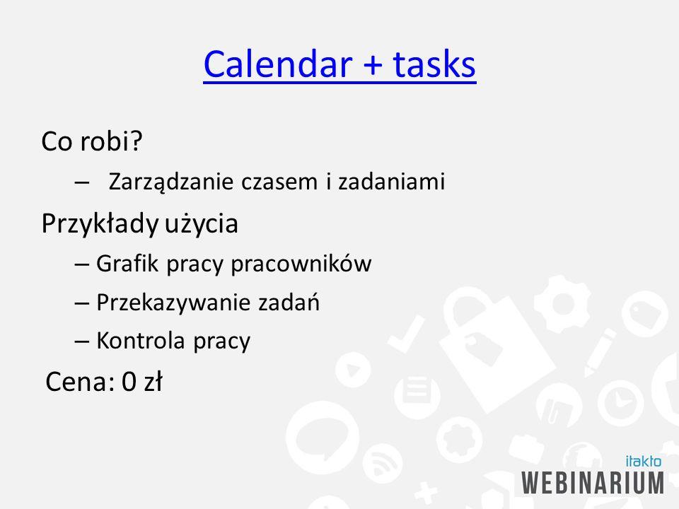 Calendar + tasks Co robi Przykłady użycia Cena: 0 zł