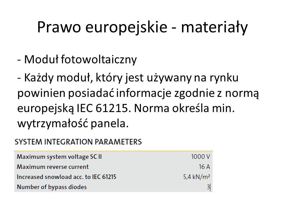 Prawo europejskie - materiały