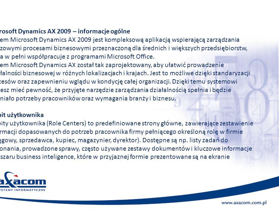 Microsoft Dynamics AX 2009 – informacje ogólne
