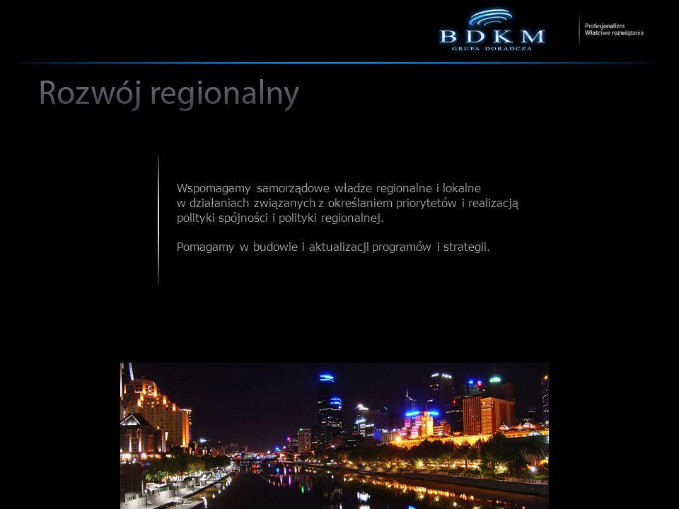 Wspomagamy samorządowe władze regionalne i lokalne w działaniach związanych z określaniem priorytetów i realizacją polityki spójności i polityki regionalnej.