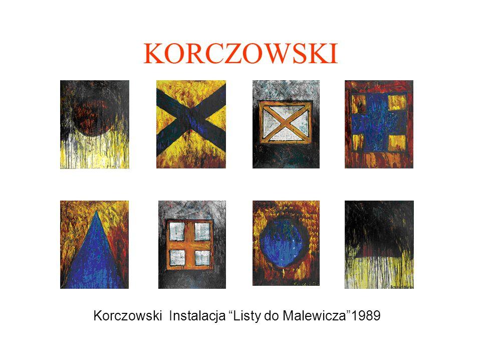 Korczowski Instalacja Listy do Malewicza 1989