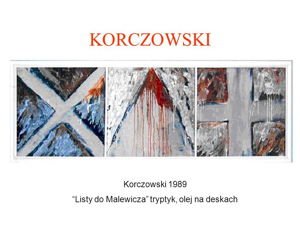 Listy do Malewicza tryptyk, olej na deskach