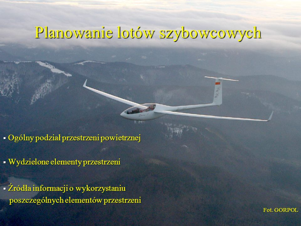 Planowanie lotów szybowcowych