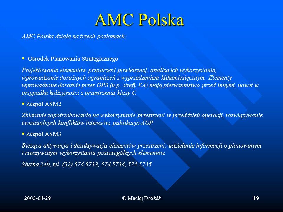 AMC Polska AMC Polska działa na trzech poziomach: