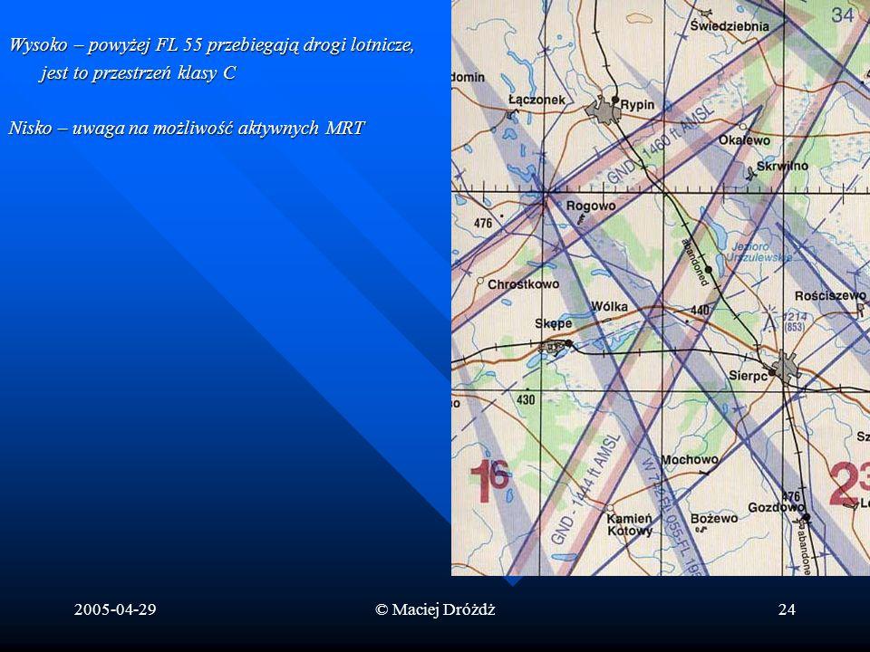 Wysoko – powyżej FL 55 przebiegają drogi lotnicze,