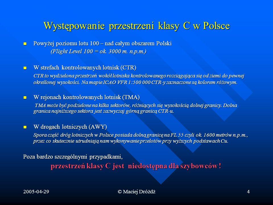 Występowanie przestrzeni klasy C w Polsce