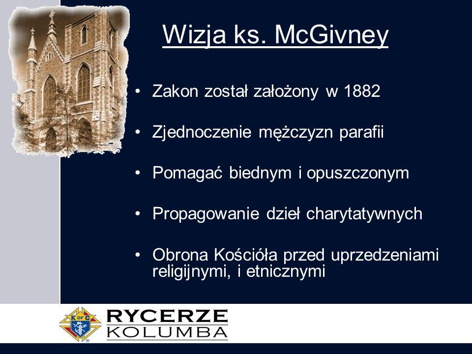 Wizja ks. McGivney Zakon został założony w 1882