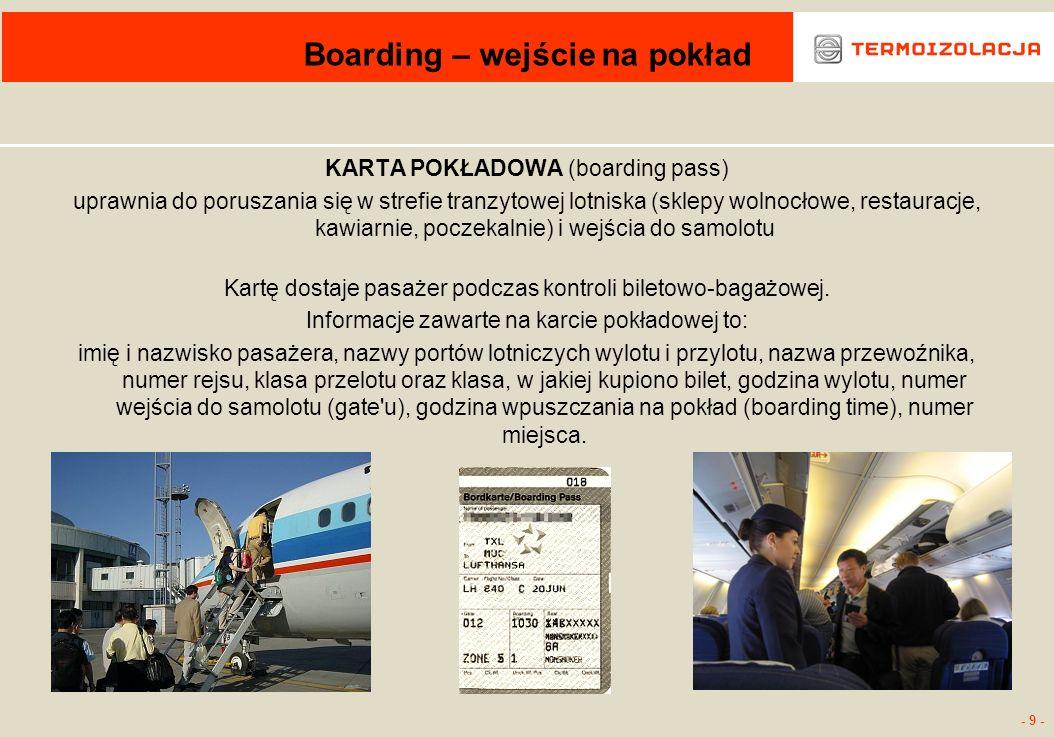 Boarding – wejście na pokład