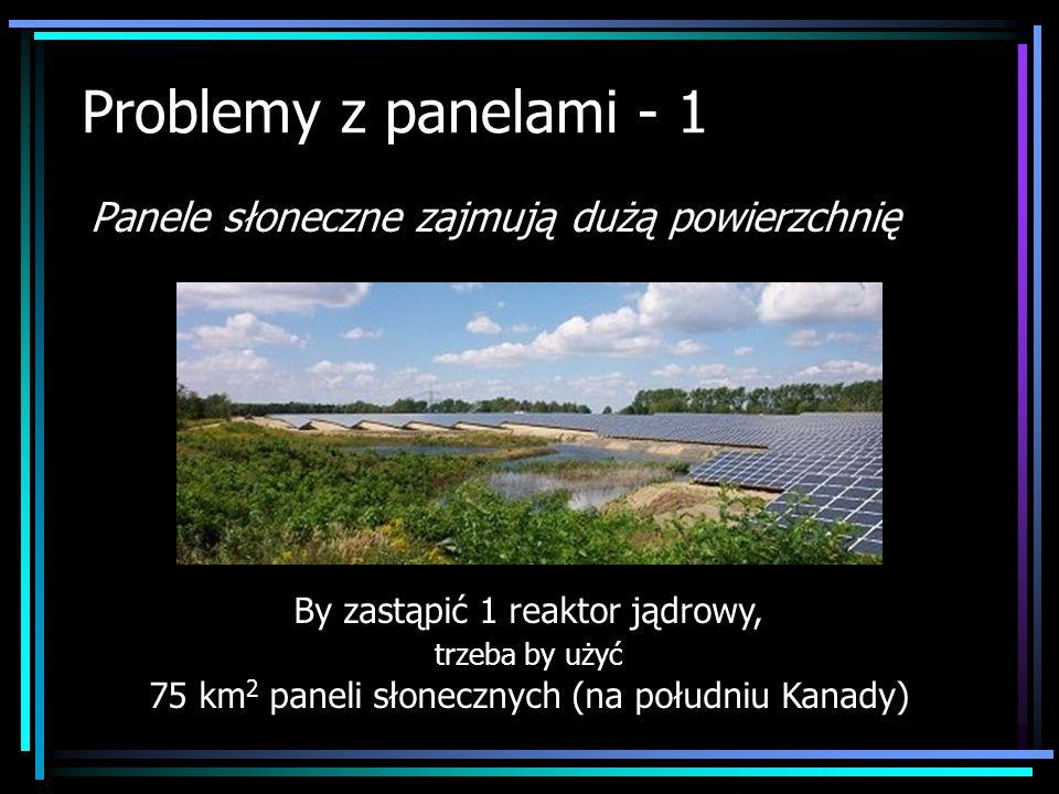 Problemy z panelami - 1 Panele słoneczne zajmują dużą powierzchnię