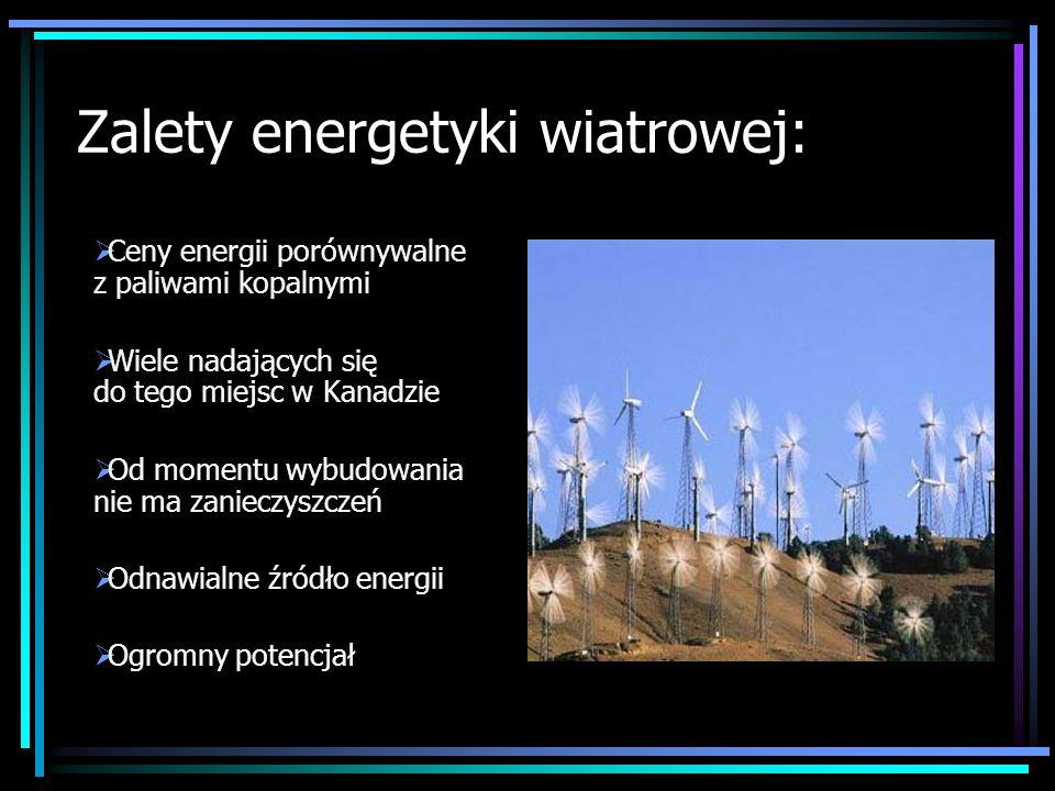 Zalety energetyki wiatrowej: