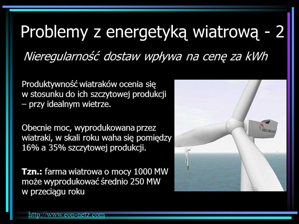 Problemy z energetyką wiatrową - 2
