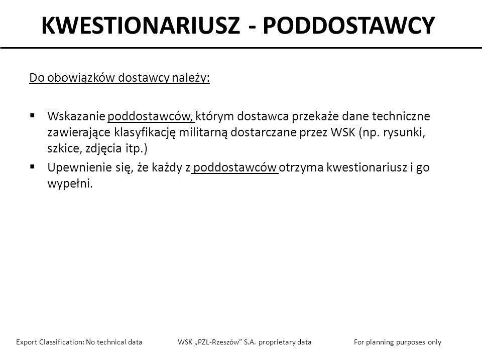 KWESTIONARIUSZ - PODDOSTAWCY