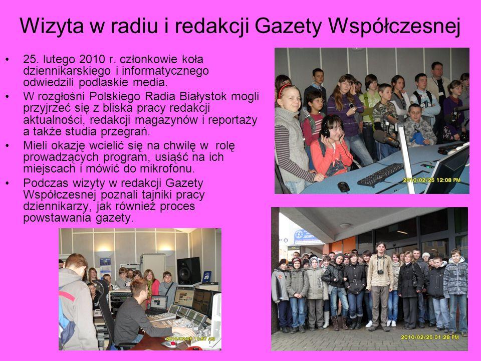 Wizyta w radiu i redakcji Gazety Współczesnej