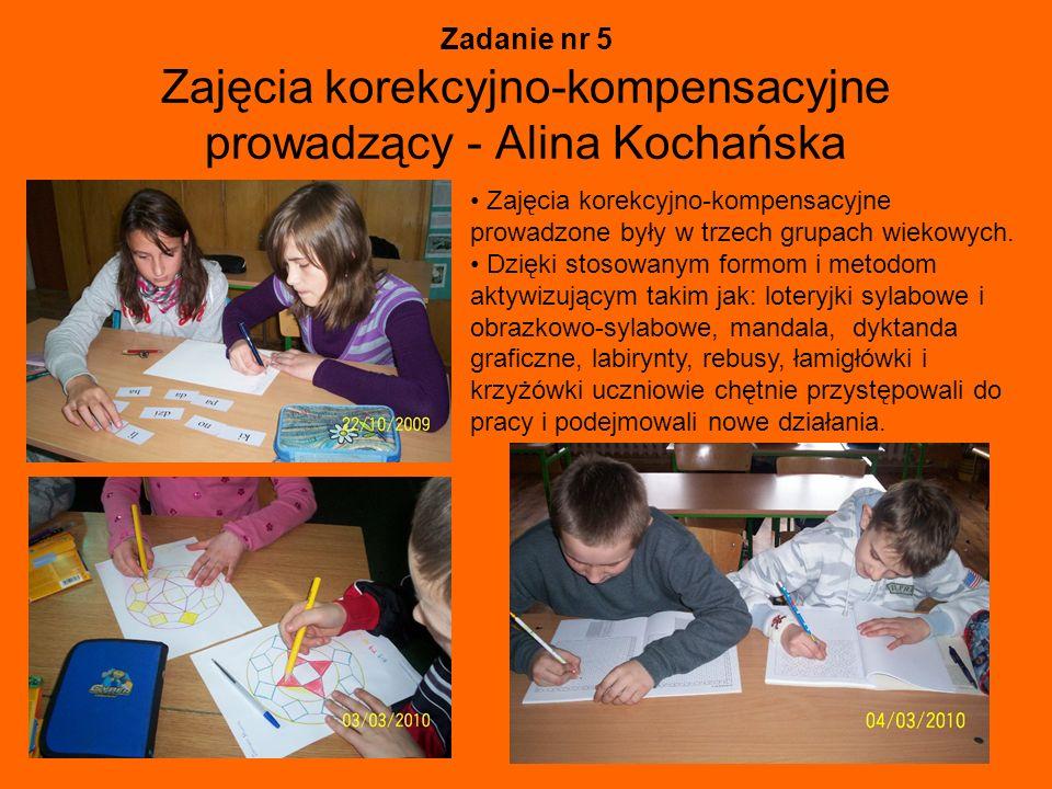 Zadanie nr 5 Zajęcia korekcyjno-kompensacyjne prowadzący - Alina Kochańska