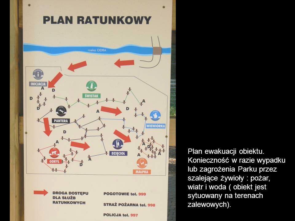 Plan ewakuacji obiektu.