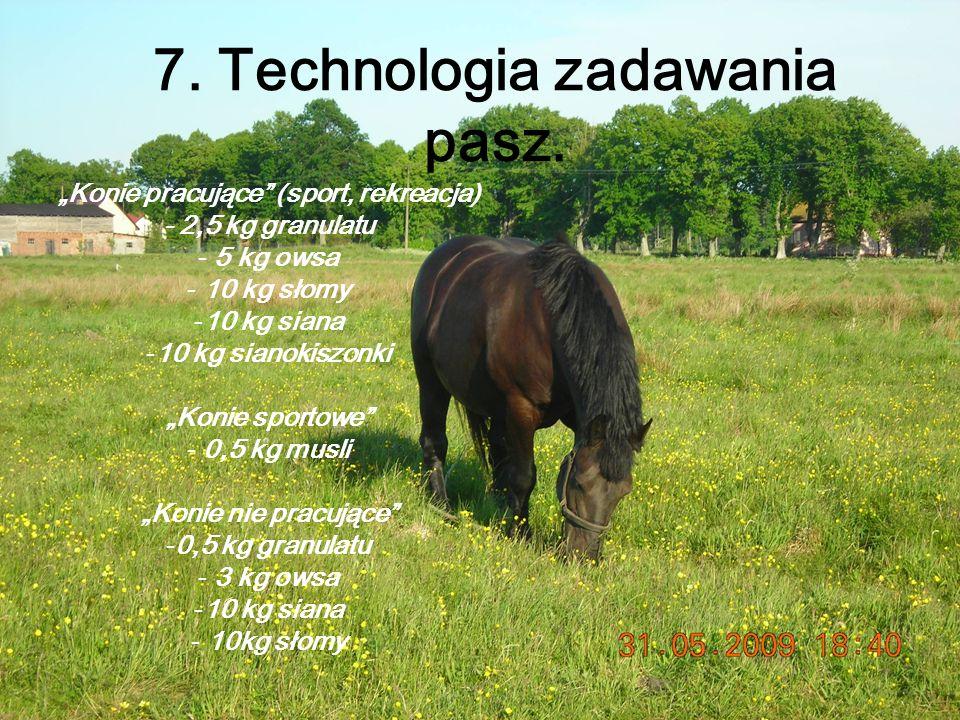 7. Technologia zadawania pasz.