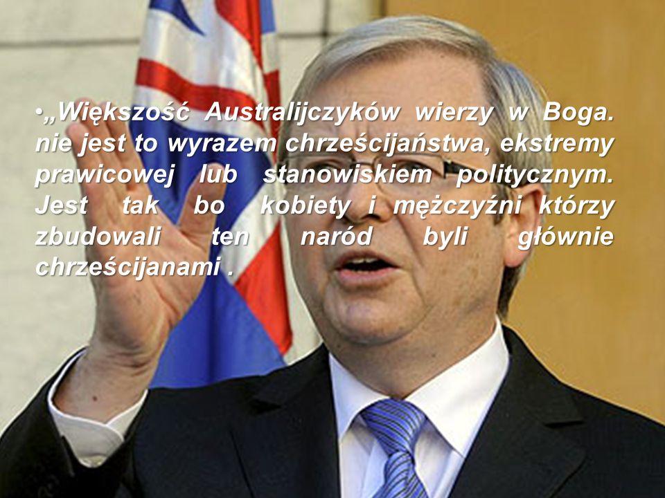 """""""Większość Australijczyków wierzy w Boga"""