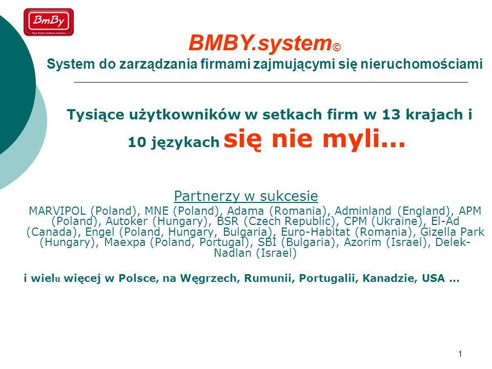 BMBY.system© System do zarządzania firmami zajmującymi się nieruchomościami