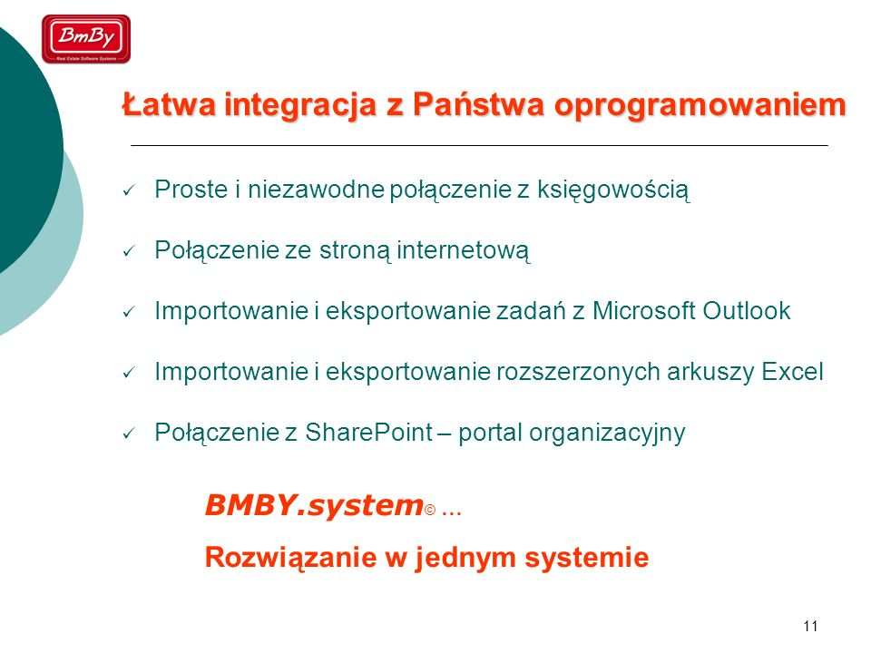 Łatwa integracja z Państwa oprogramowaniem