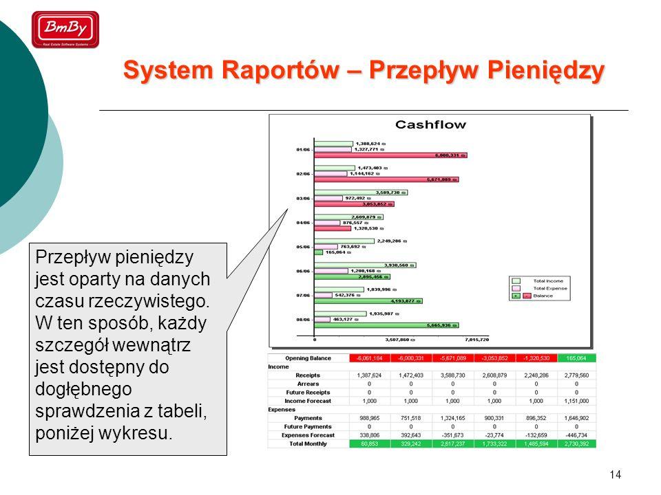 System Raportów – Przepływ Pieniędzy