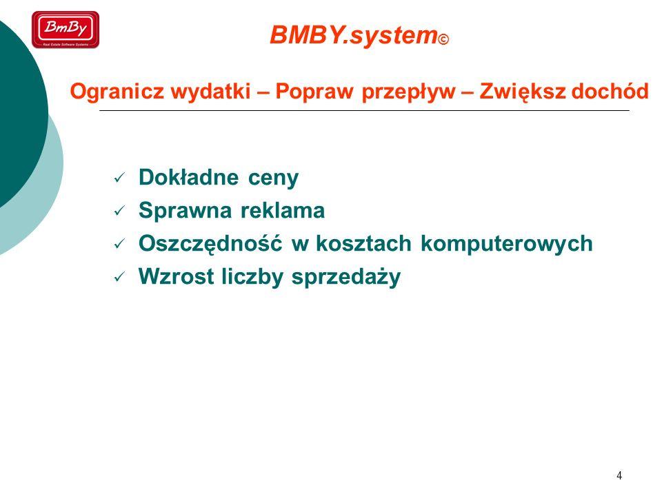 BMBY.system© Ogranicz wydatki – Popraw przepływ – Zwiększ dochód