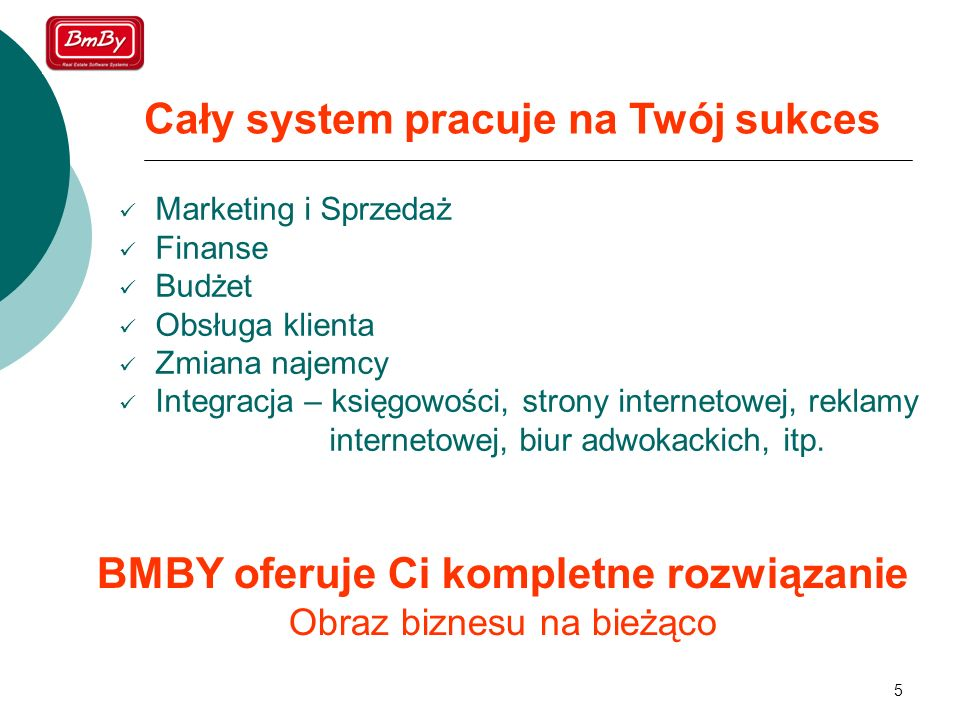 BMBY oferuje Ci kompletne rozwiązanie Obraz biznesu na bieżąco