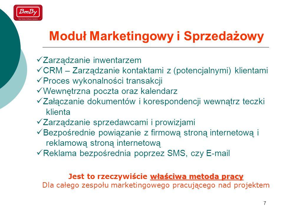 Moduł Marketingowy i Sprzedażowy
