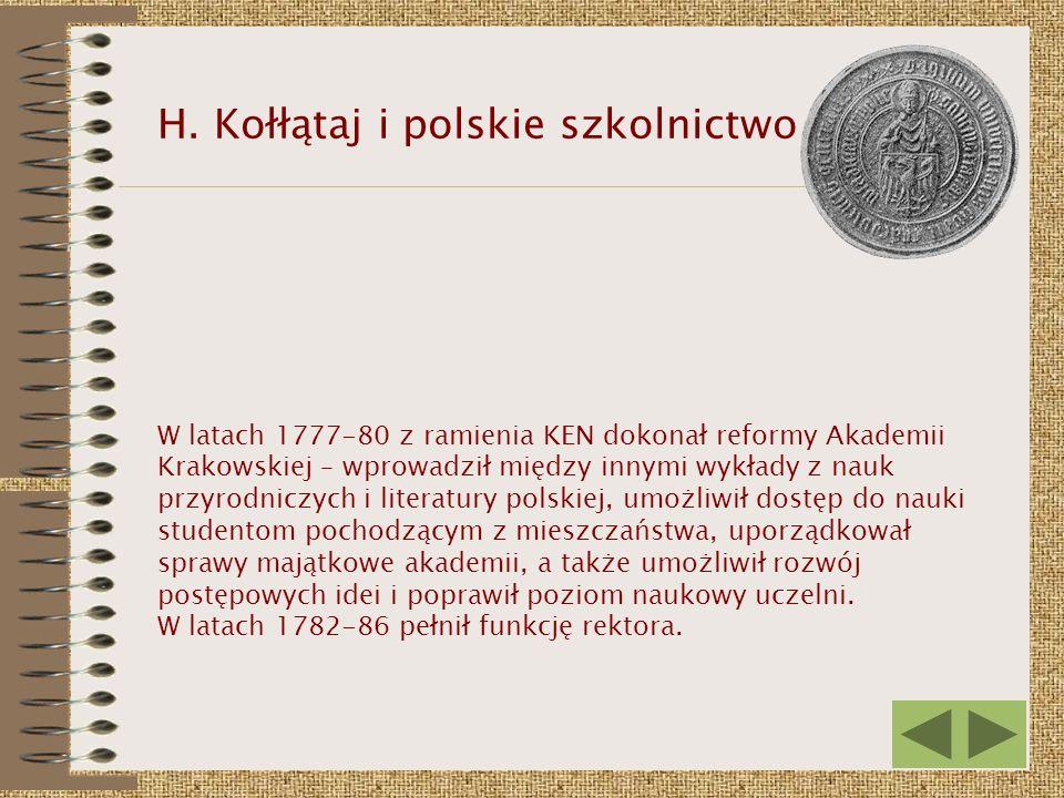 H. Kołłątaj i polskie szkolnictwo
