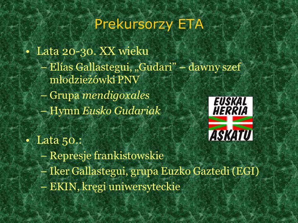 Prekursorzy ETA Lata 20-30. XX wieku Lata 50.: