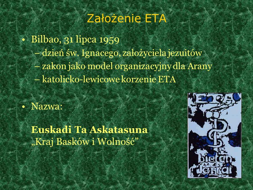 Założenie ETA Bilbao, 31 lipca 1959