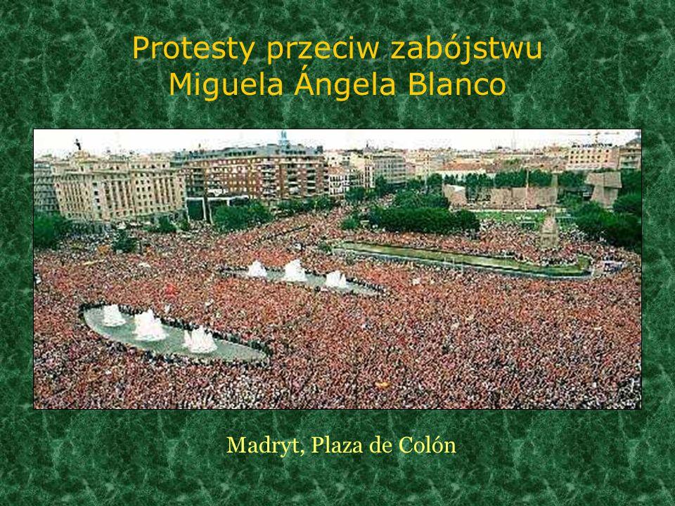 Protesty przeciw zabójstwu Miguela Ángela Blanco