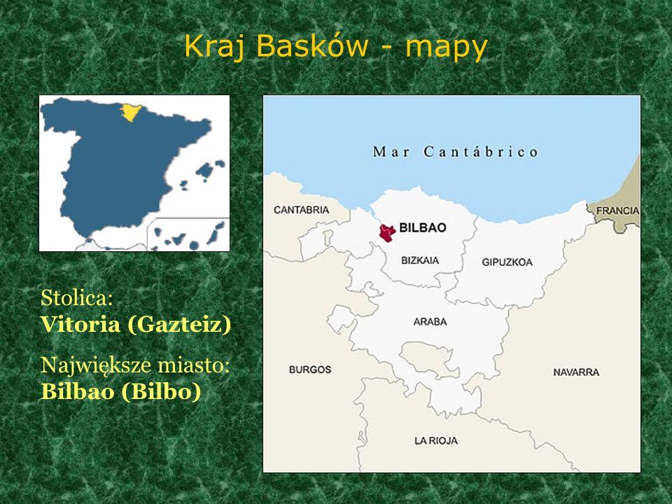 Kraj Basków - mapy Stolica: Vitoria (Gazteiz)